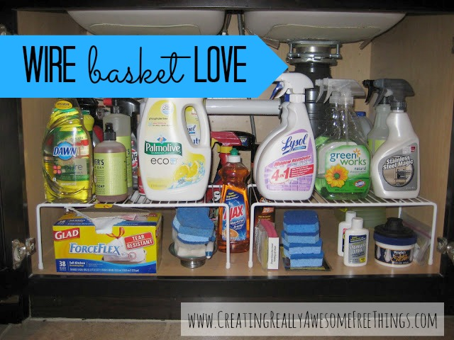 Organize with wire baskets