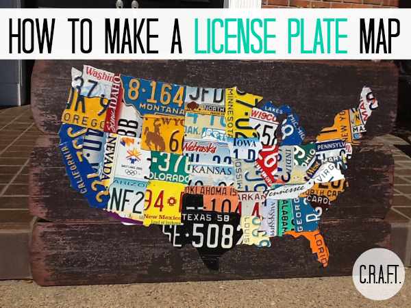 License Plate State Map.Diy License Plate Map C R A F T