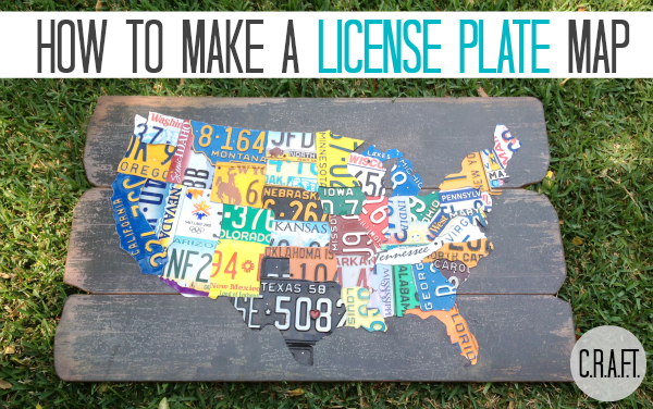 DIY License Plate Map {Update} - C.R.A.F.T.