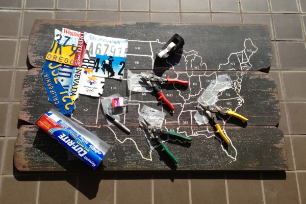 DIY License plate map CRAFT