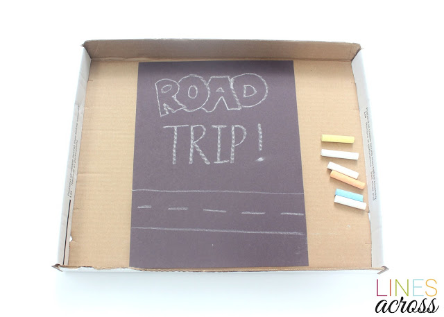 Chalkboard road trip activity for kids