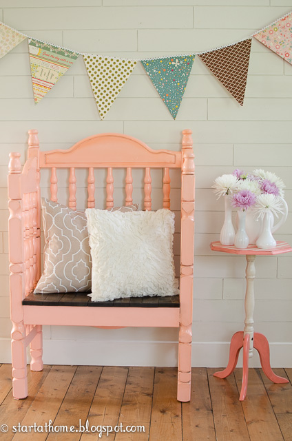 Upcycle an old crib into a chair