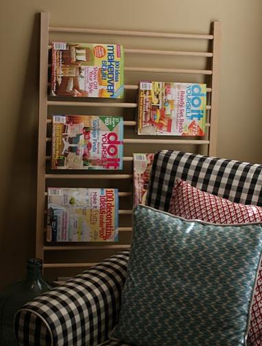 crib rail magazine holder