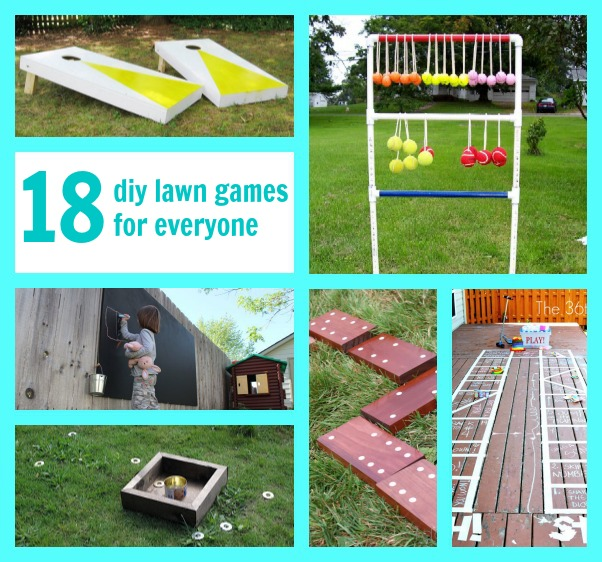 21 diy lawn games c r a f t Homemade games for adults
