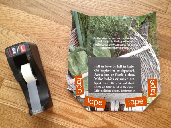 magazine paper craft