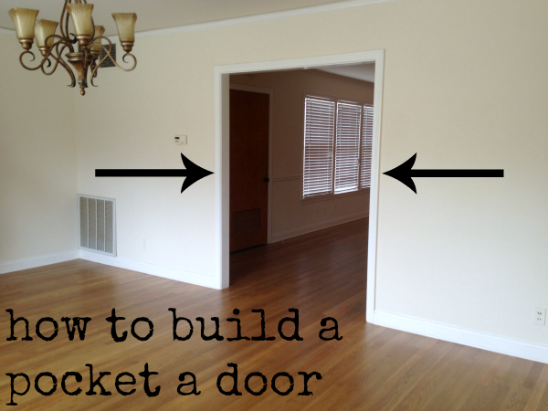 How to build a pocket a door