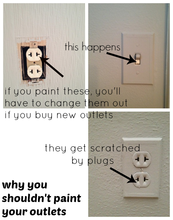 Painting outlets