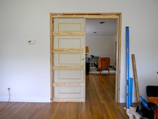 Installing Pocket Doors Kit : How to build a pocket door c r f t