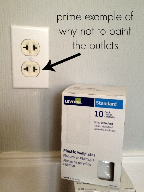why not to paint your outlets