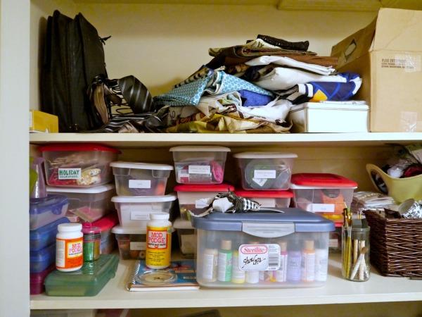 Organize a craft closet