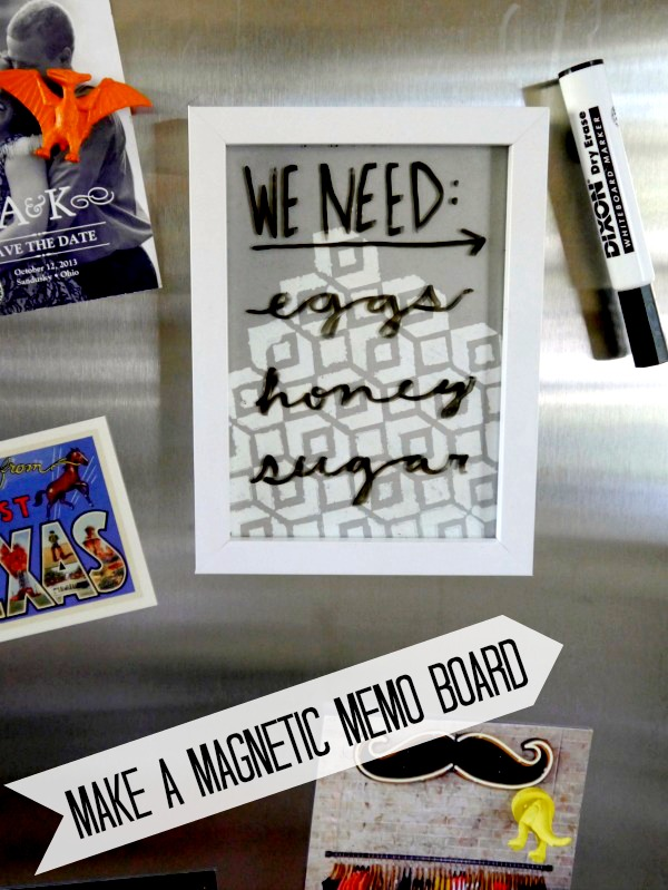 How to make a magnetic memo baord