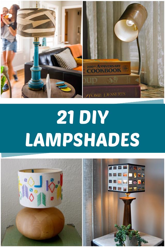 21 DIY Lampshade ideas