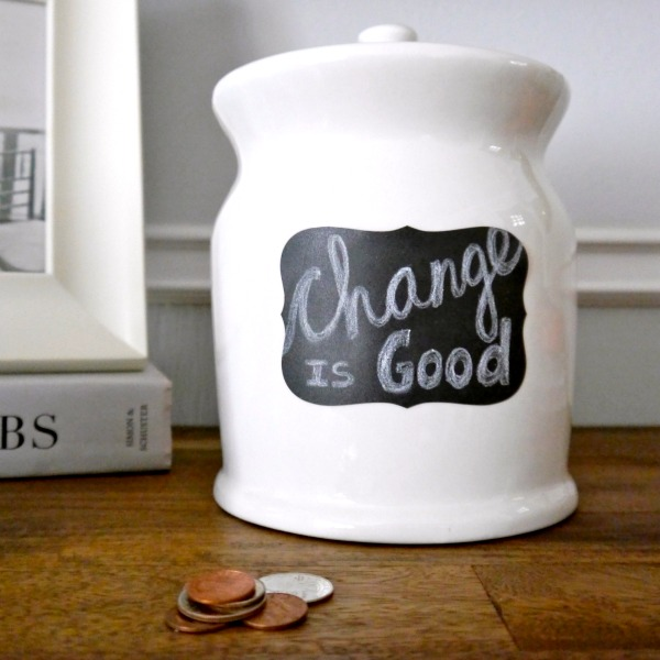 Thrift store change jar makeover