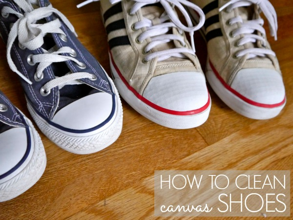 I followed this YouTube method on how to clean white canvas shoes. Only did one shoe so I could compare