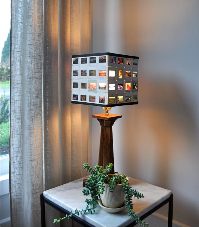 DIT lampshade made of slides