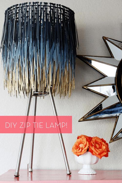 DIY Lampshade with zip tie