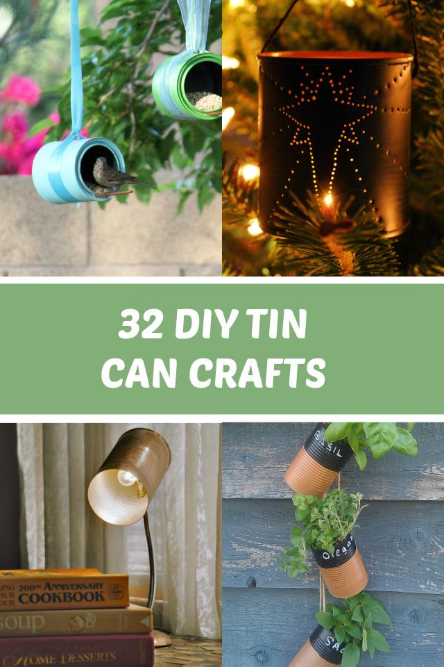 DIY Tin can crafts