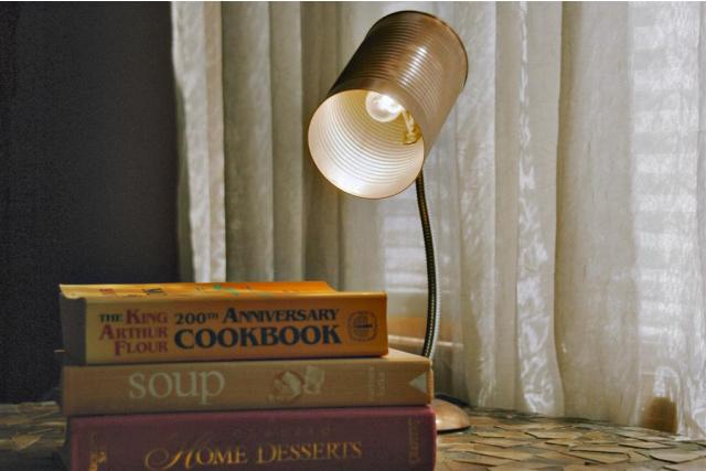 DIY Tin can lampshade