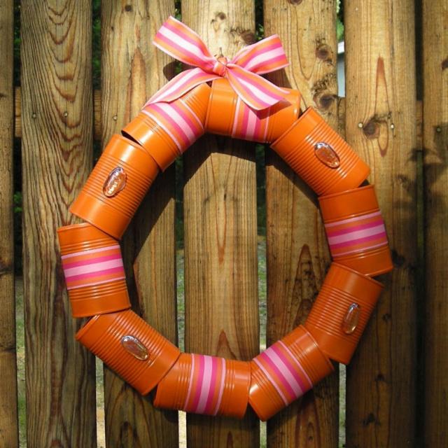 DIY Tin can wreath