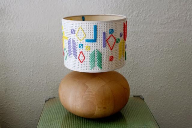 DIY embroidered lamp shade