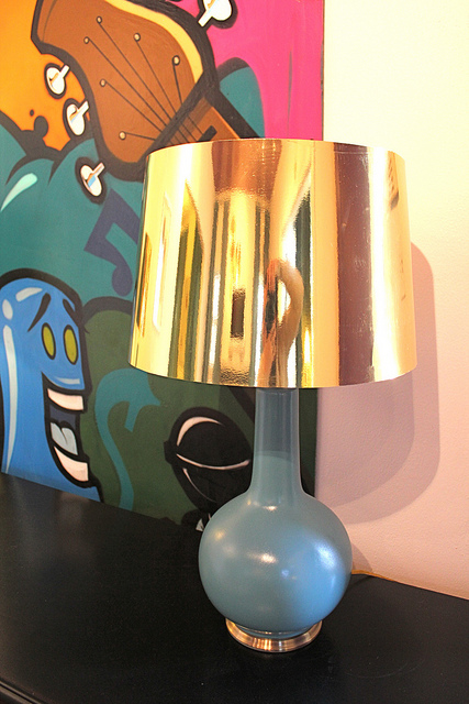 DIY lampshade made out of poster board