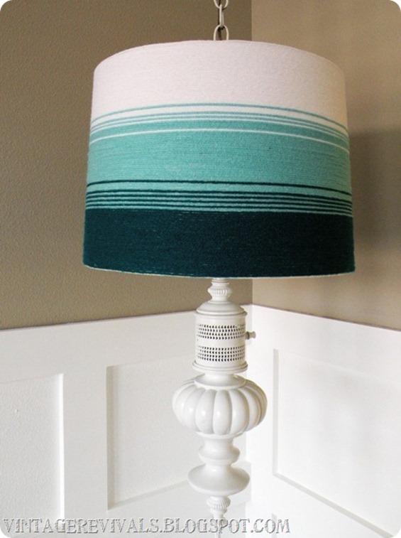 DIY lampshade with yarn