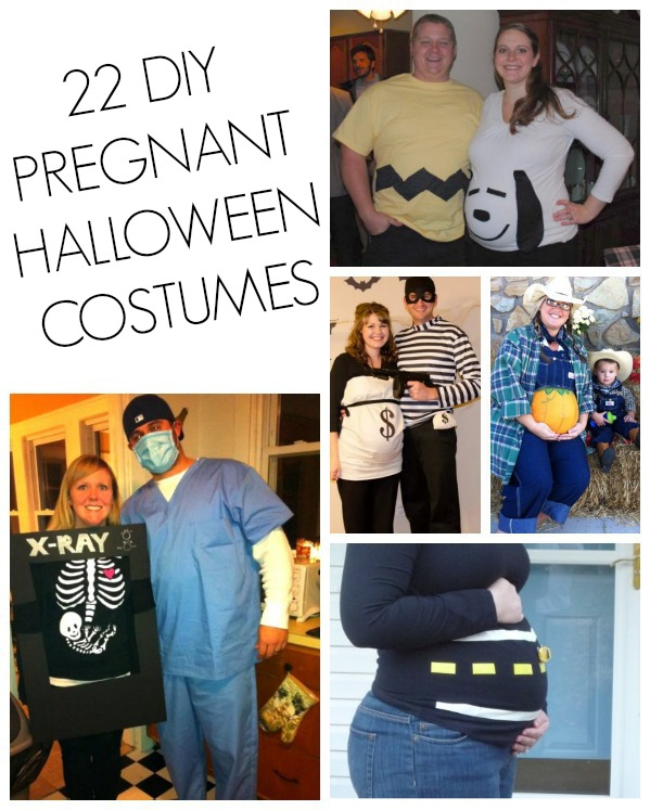 DIY Pregnant halloween costumes
