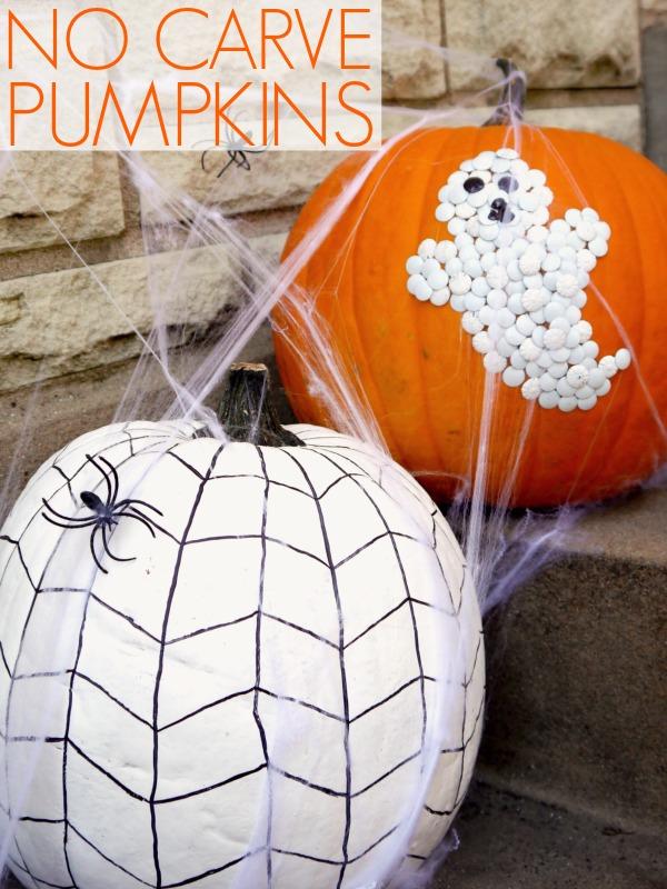 No carve pumpkin decorating c r a f t for A pumpkin decoration