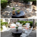 Crusty and rusty {How to paint patio furniture}