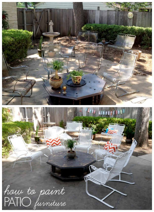 Crusty and rusty How to paint patio furniture C R A F T