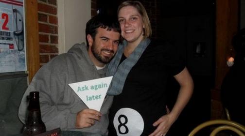 diy pregnant halloween costume - Pregnant Halloween Couples Costumes