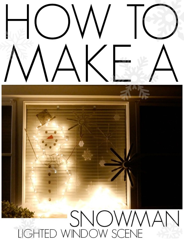 How to make a snowman lighted window scene