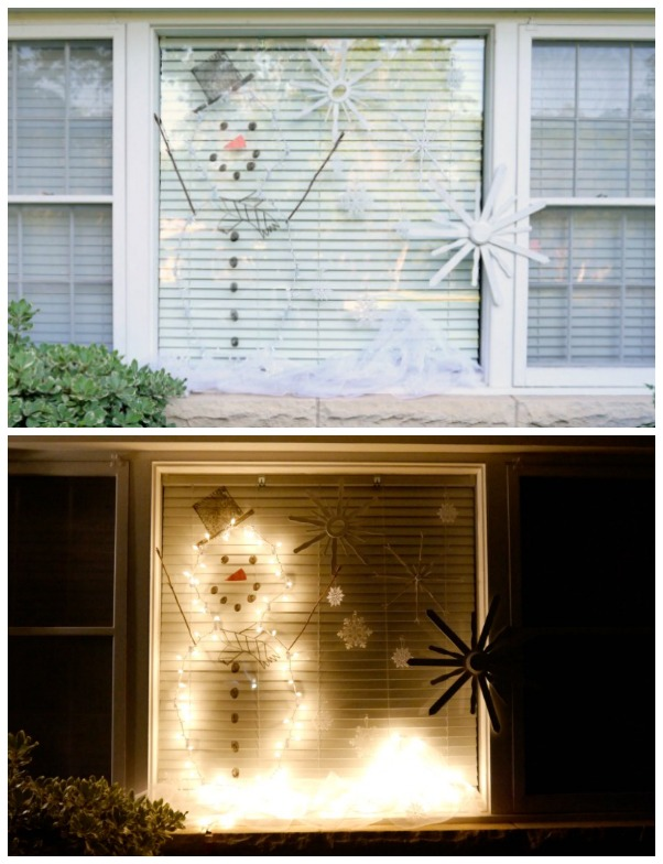 Outdoor holiday window decorations