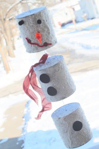 Snowman wind chime