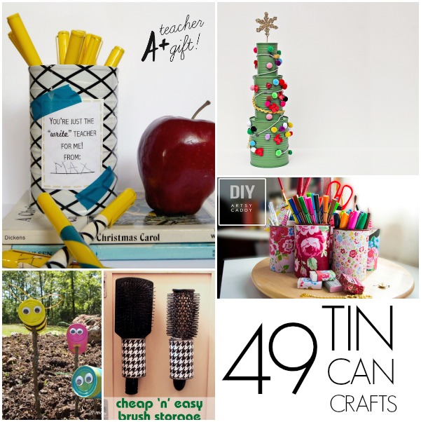 10 Amazing Christmas Decorations You Can Do On A Budget: 49 Tin Can Crafts