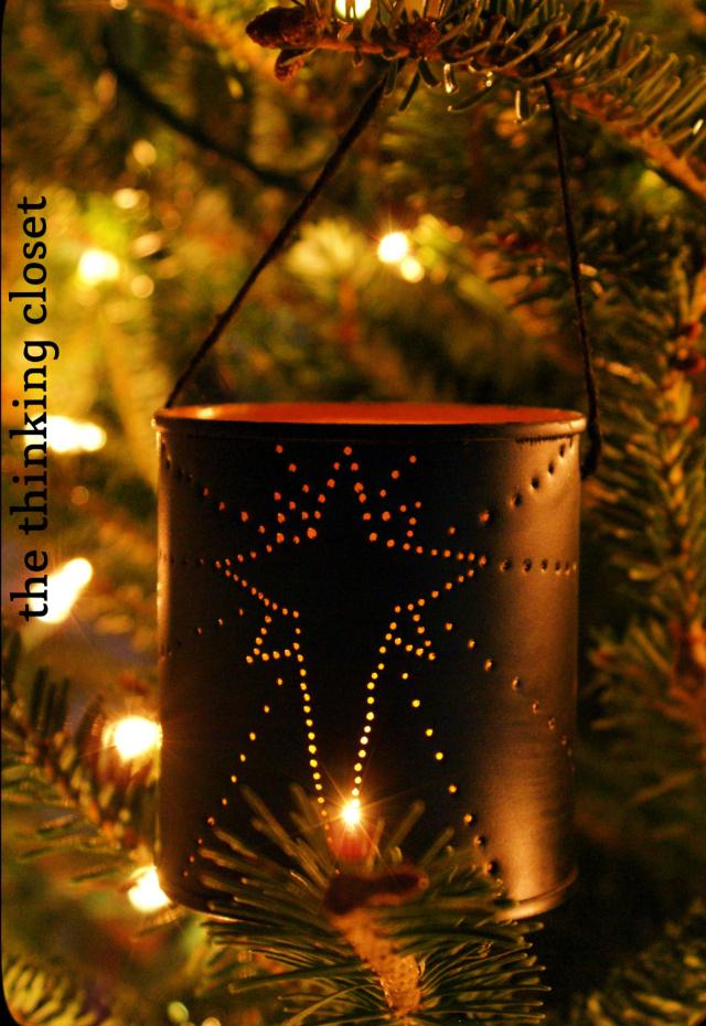 Tin can Chrsitmas ornaments