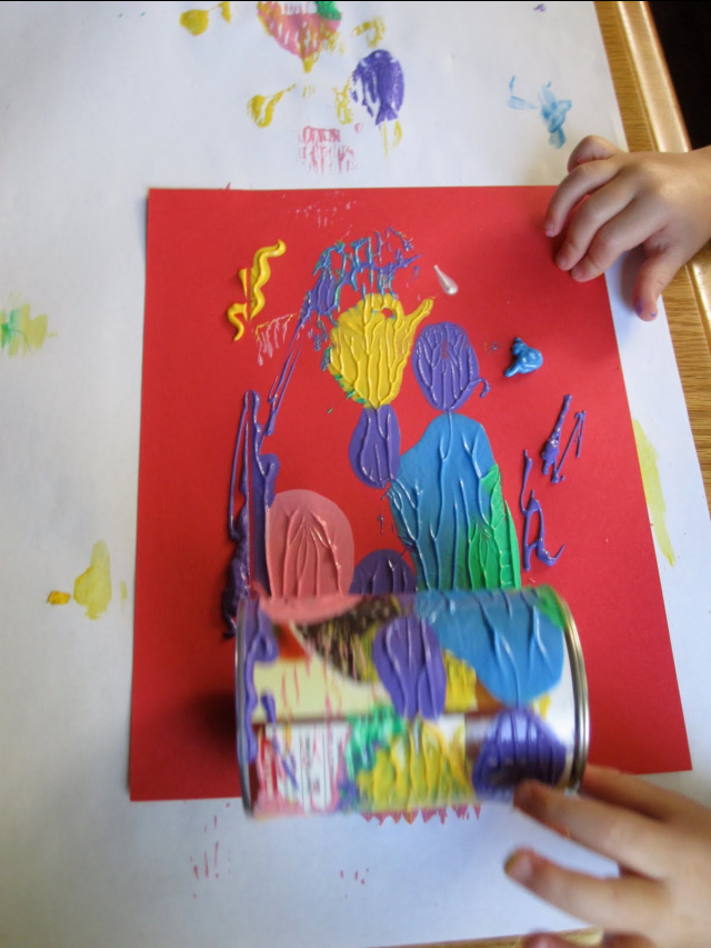 Tin can art project for kids