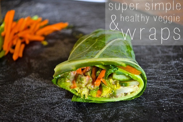 Veggie wrap and simple peanut sauce