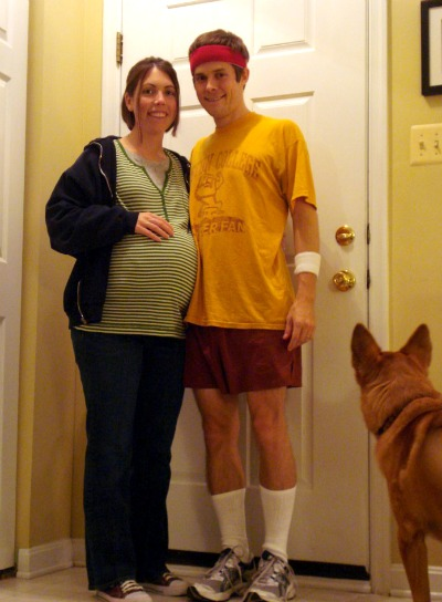 DIY Pregnant halloween costume