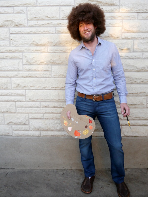 DIY Bob Ross adult Halloween costume