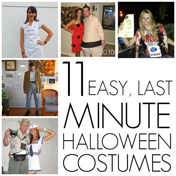 Last minute homemade Halloween costumes ideas