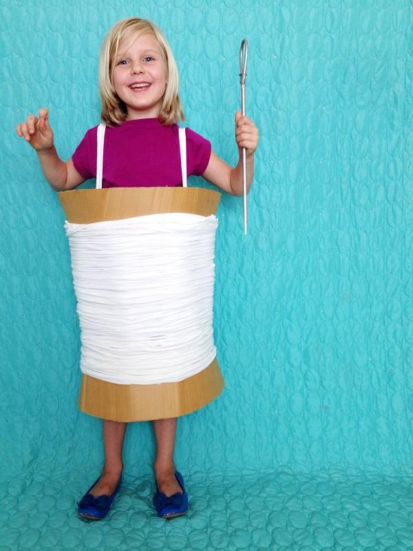 DIY needle and thread halloween costume