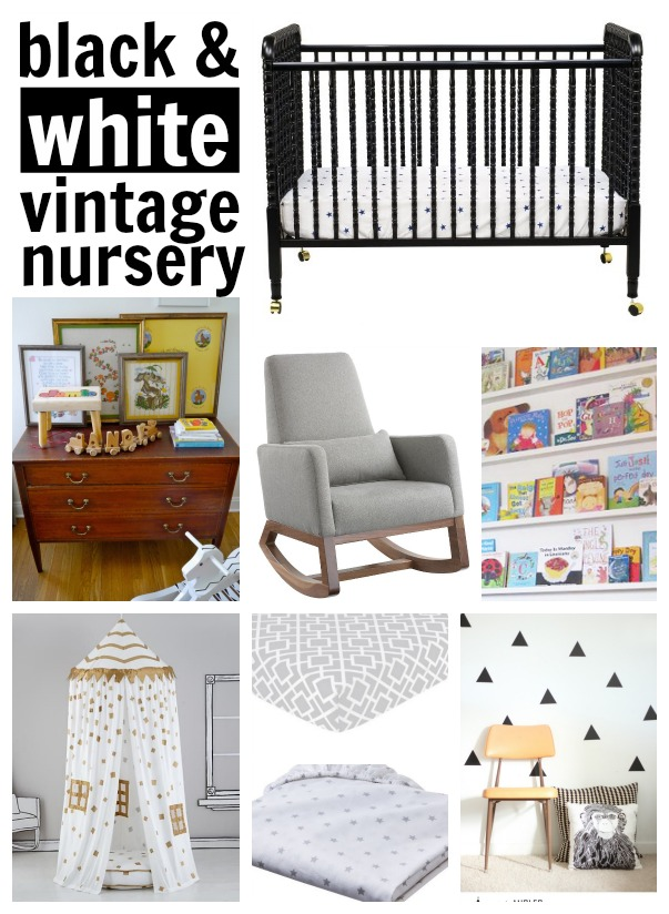 Black and white DIY nursery ideas
