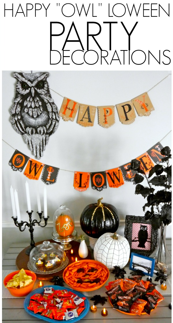 Happy Owl-loween party decoration ideas