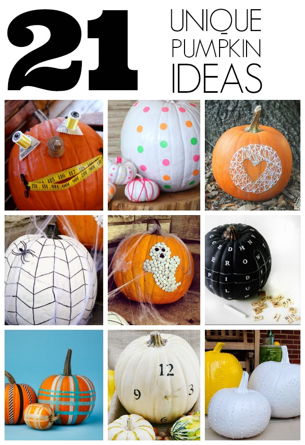 21 Unique pumpkin ideas