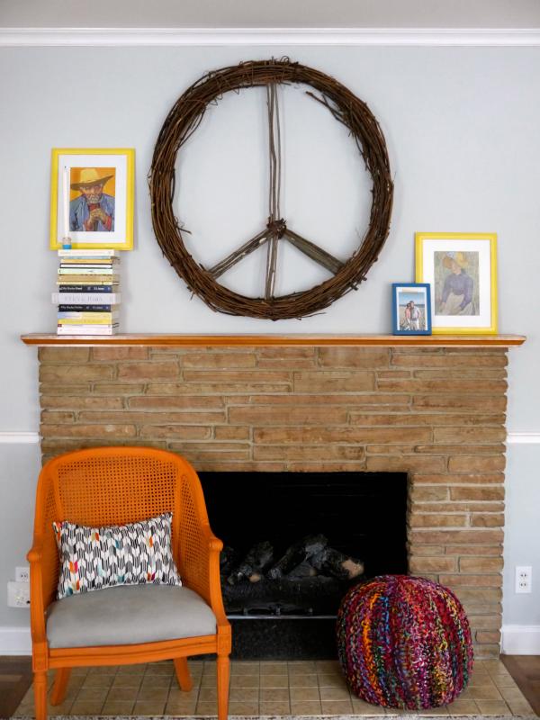CB2 inspired peace wreath