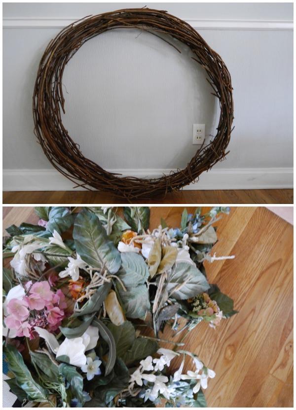 DIY winter peace wreath