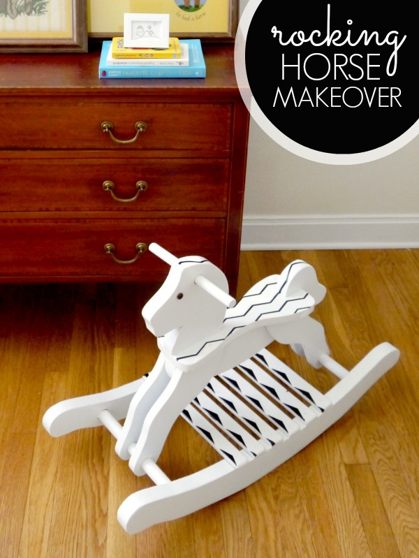 Rocking horse makeover with Frog Tape