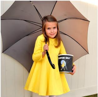Morton salt lady kid costume