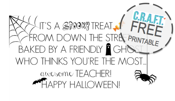 Easy Halloween teacher gift